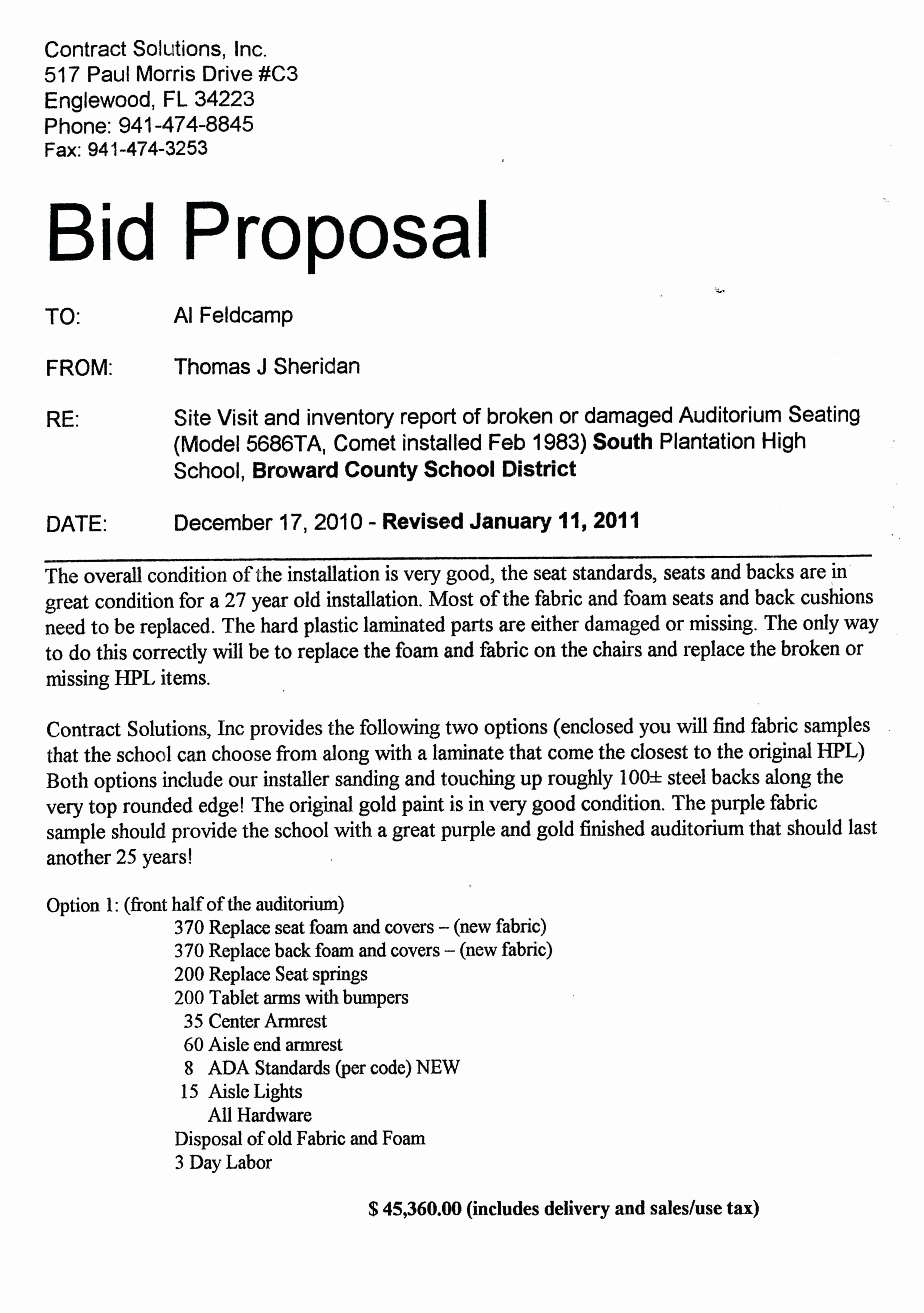 Standard Bid form for Construction Awesome Template Bid Proposal Template Word