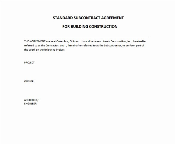 Standard Bid form for Construction Fresh 9 Construction Contract Templates – Pdf Word Pages