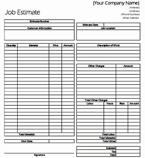 Standard Bid form for Construction Inspirational Standard Bid Proposal form Subcontractor Template Monster