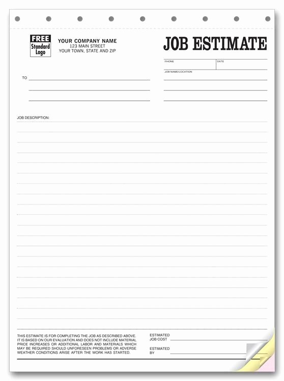 Standard Bid form for Construction Luxury Printable Blank Bid Proposal forms