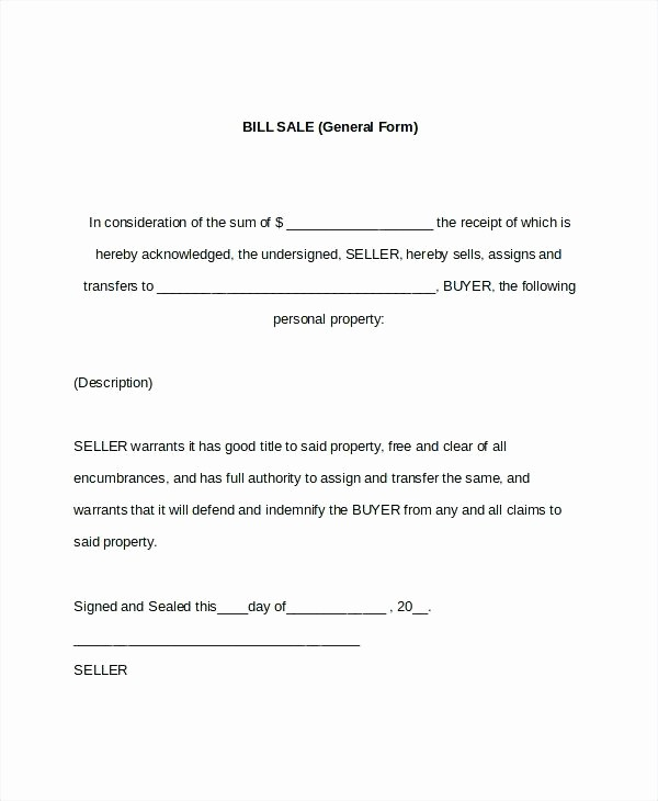 Standard Bill Of Sale form Awesome Simple Bill Sale for Car Template Vehicle Receipt Basic