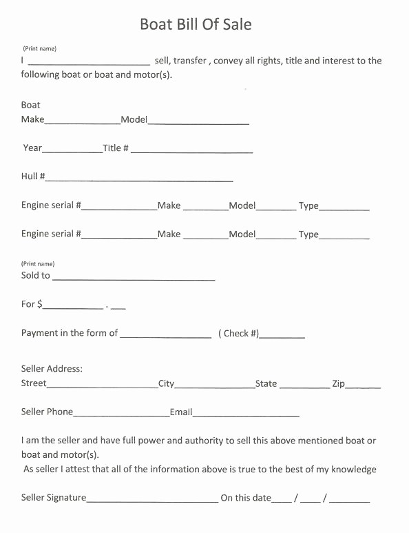 Standard Bill Of Sale Form Awesome Printable Sample Vehicle Bill Of