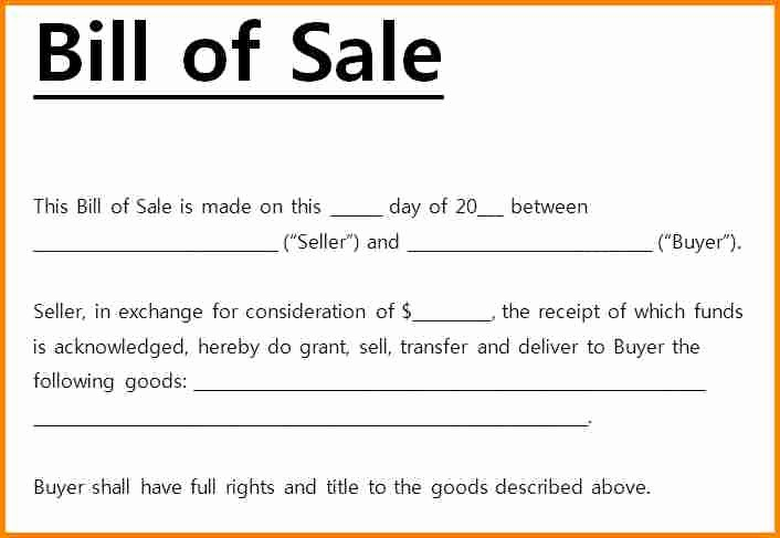 Standard Bill Of Sale Pdf Awesome 6 Simple Bill Of Sale Pdf