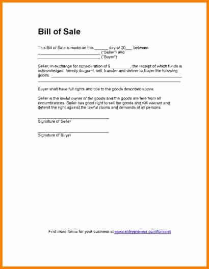 Standard Bill Of Sale Pdf Best Of 3 Simple Bill Of Sale for Car