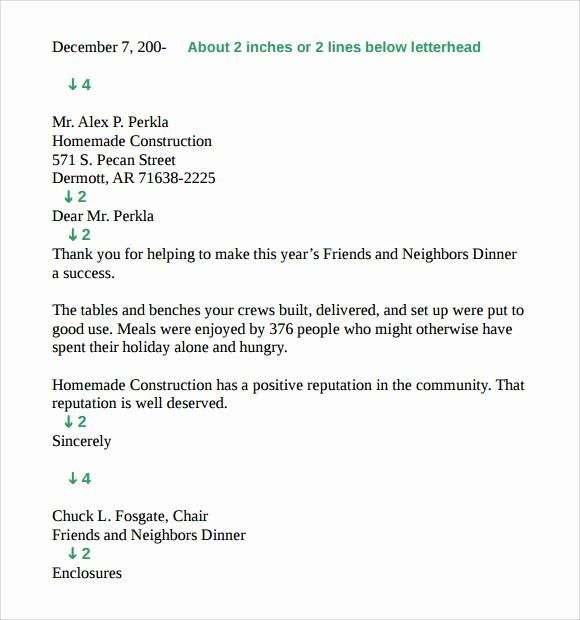 Standard Business Letter format Template Awesome 9 Standard Business Letter format Templates to Download