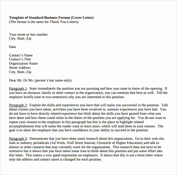 Standard Business Letter format Template Elegant 12 Business Letter Templates – Free Samples Examples