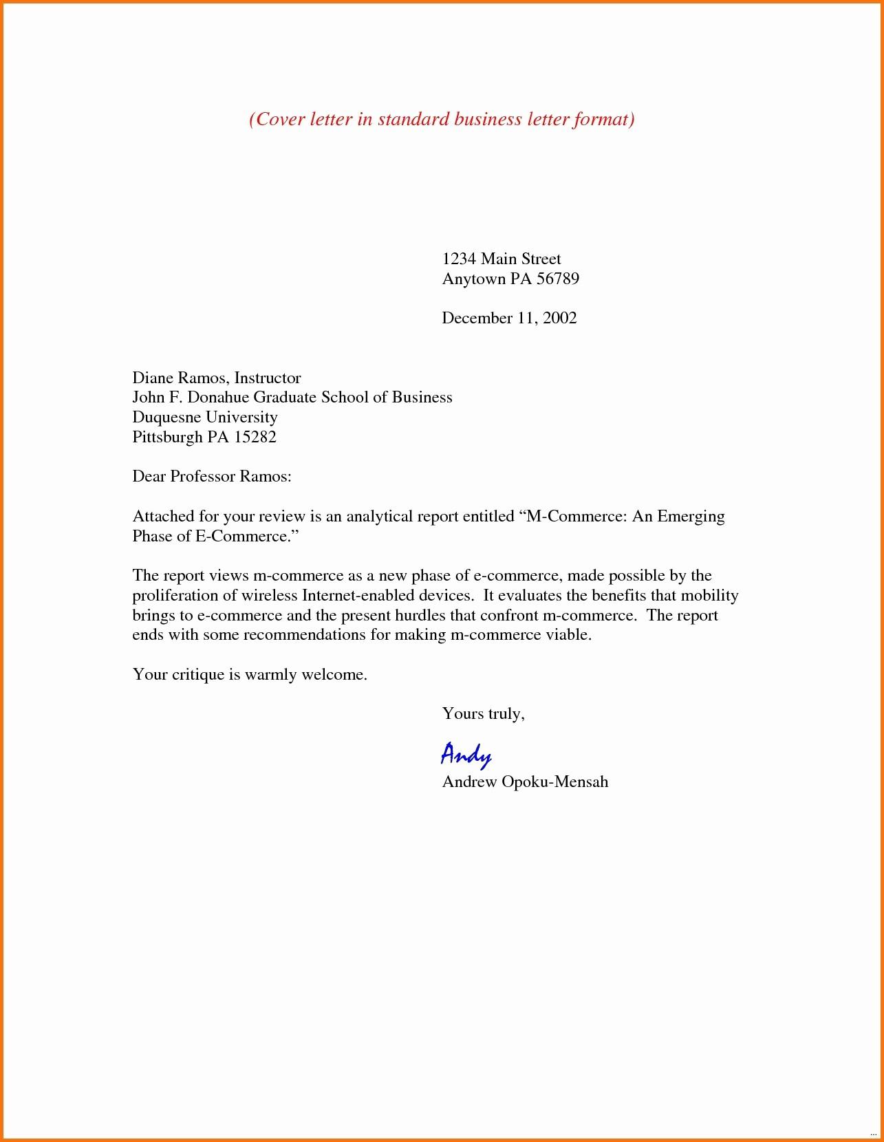 Standard Business Letter format Template Inspirational Free Printable Standard Business Letter format Template