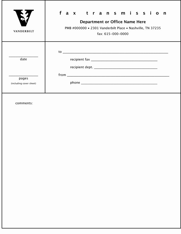 Standard Fax Cover Sheet Pdf Awesome Fax Cover Sheet Examples