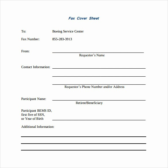 Standard Fax Cover Sheet Pdf Beautiful 14 Sample Basic Fax Cover Sheets