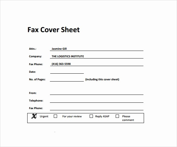 Standard Fax Cover Sheet Pdf Beautiful 28 Fax Cover Sheet Templates