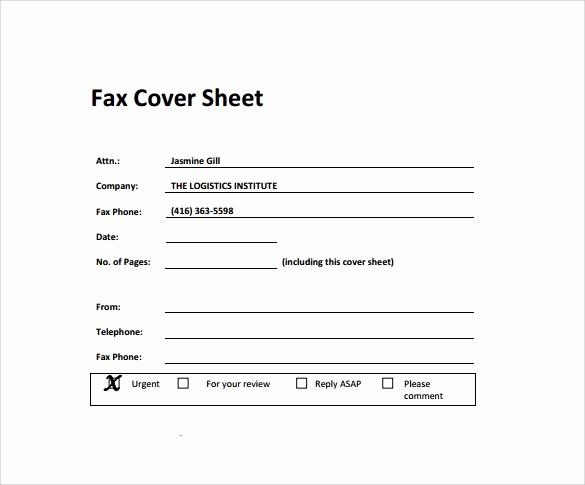 Standard Fax Cover Sheet Pdf Beautiful 28 Fax Cover Sheet Templates