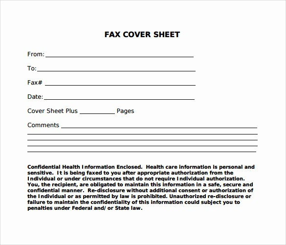 Standard Fax Cover Sheet Pdf Beautiful Standard Fax Cover Sheet – 11 Free Samples Examples