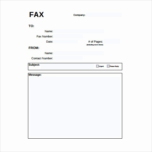 Standard Fax Cover Sheet Pdf Inspirational 28 Fax Cover Sheet Templates