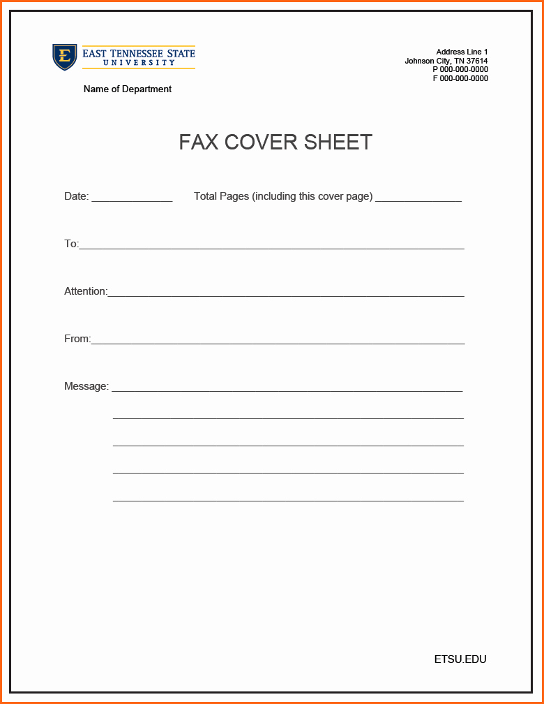 Standard Fax Cover Sheet Pdf Inspirational 8 Printable Fax Cover Sheet Bud Template Letter