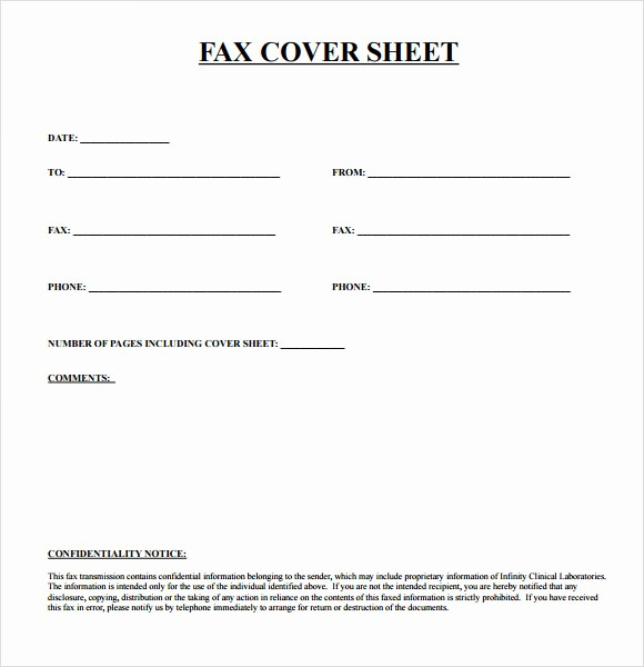 Standard Fax Cover Sheet Pdf Inspirational Basic Fax Cover Sheet 7 Download Documents In Pdf
