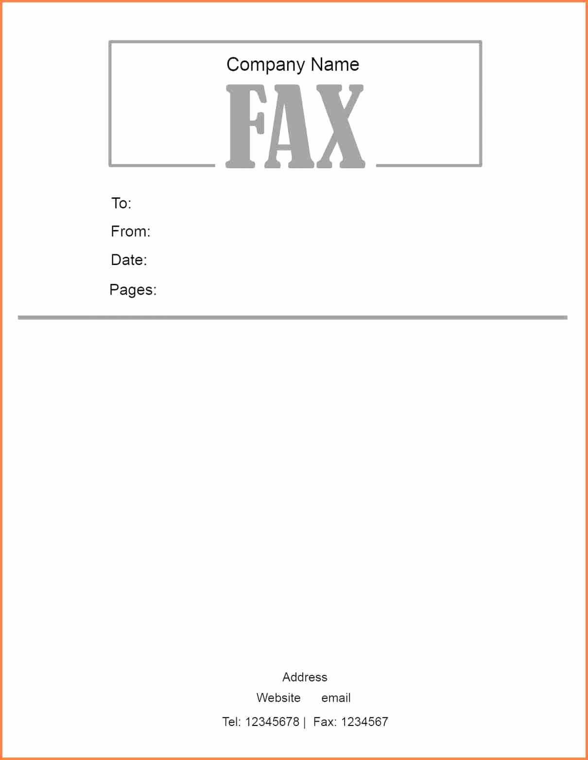 Standard Fax Cover Sheet Pdf New 11 Basic Fax Cover Sheet Pdf