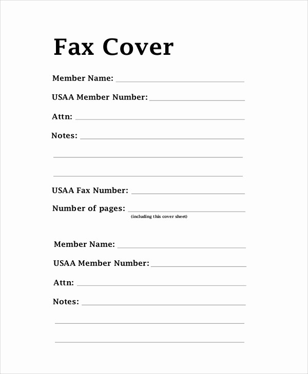 Standard Fax Cover Sheet Pdf Unique Printable Standard Fax Cover