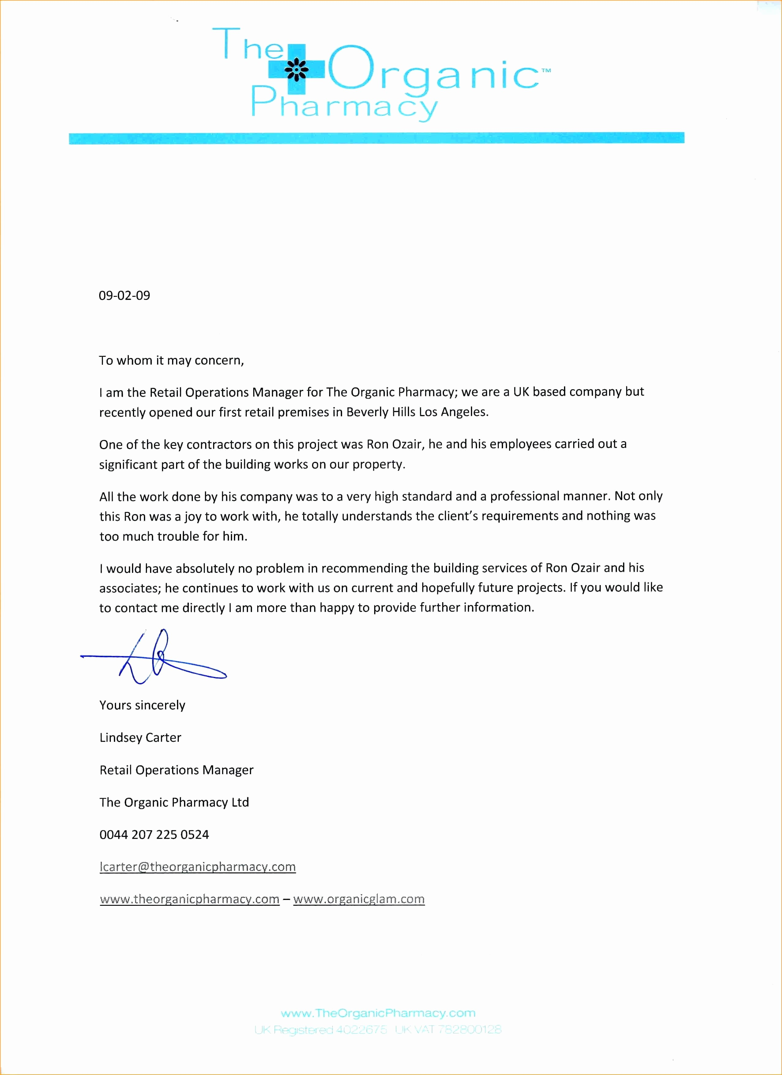Standard Letter Of Recommendation format Awesome Template Standard Reference Letter Template