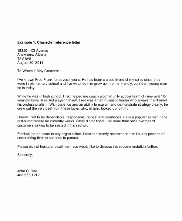 Standard Letter Of Recommendation format Lovely 52 Reference Letters Word Google Docs Apple Pages