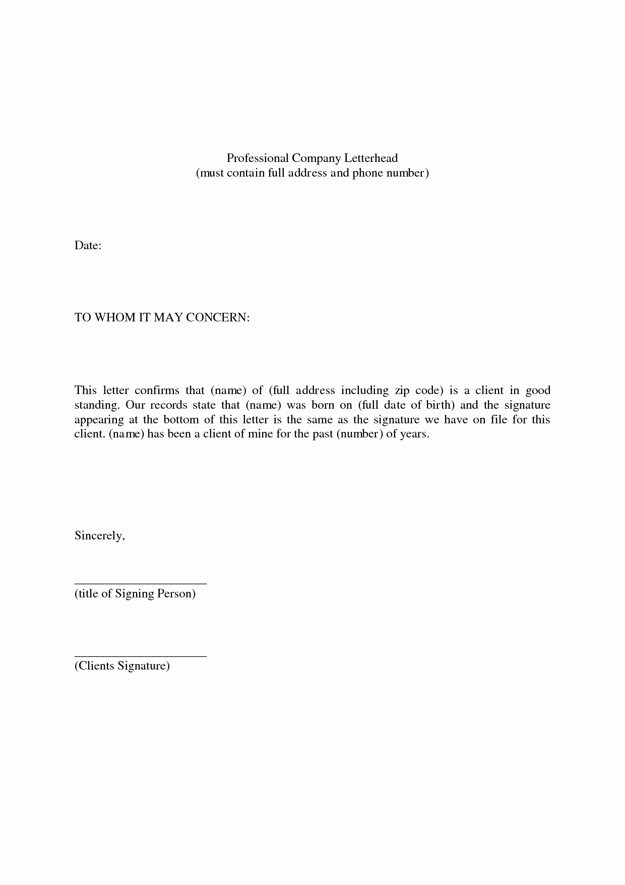 Standard Letter Of Recommendation format New Best Photos Of Standard Professional Reference Letter