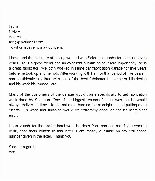 Standard Letter Of Recommendation format Unique General Letter Re Re Receipts Template Standard