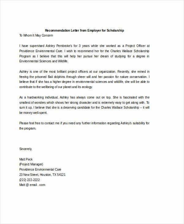 Standard Letter Of Recommendation format Unique Standard Reference Letter Template Templates Station