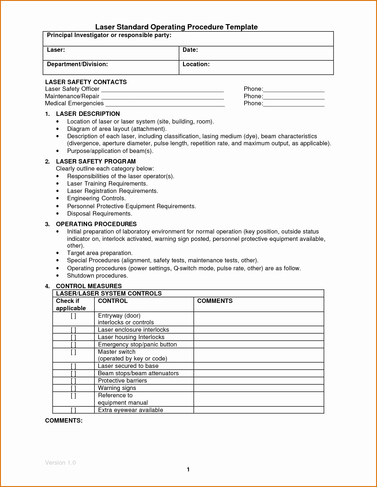 Standard Work Template for Office Inspirational 14 Standard Operating Procedures Templates