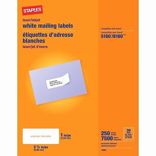 Staples Return Address Labels Template Beautiful Staples Address Label Template 5160