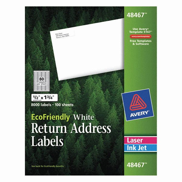 Staples Return Address Labels Template New Avery Laser Inkjet Label Template Pk100 5nhk7