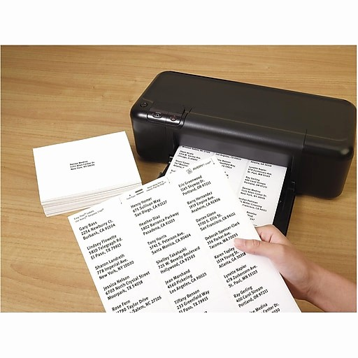 "Staples Return Address Labels Template Unique Avery 1"" X 2 5 8"" 5160 Laser Address Labels with Easy Peel"