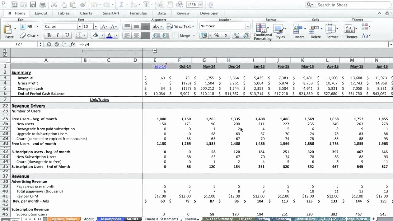 Startup Expenses and Capitalization Spreadsheet Inspirational Startup Financials Template