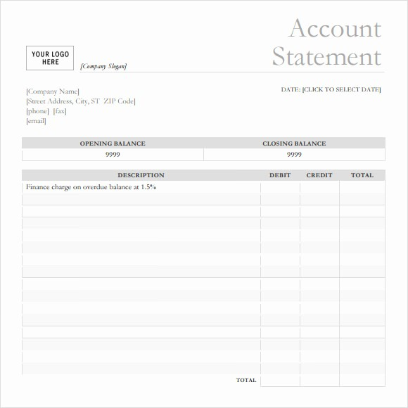 Statement Of Account Template Excel Beautiful Bank Statement 9 Free Samples Examples format