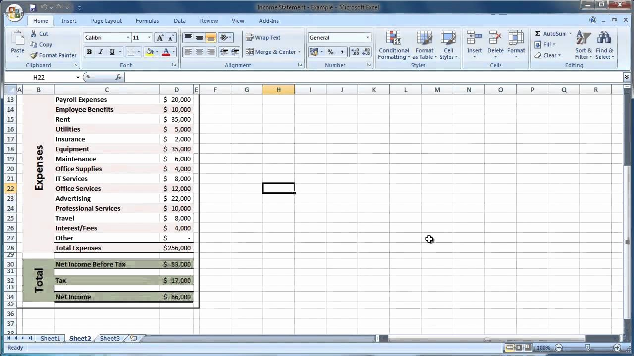 Statement Of Account Template Excel Beautiful Financial Statement Template Xls