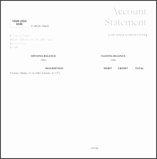 Statement Of Account Template Excel Lovely 7 Account Statement Template Sampletemplatess