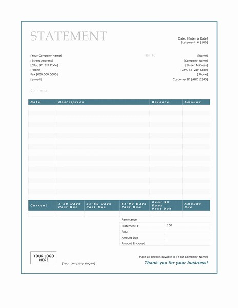 Statement Templates for Microsoft Word Best Of Billing Statement Template Uk Templates Resume