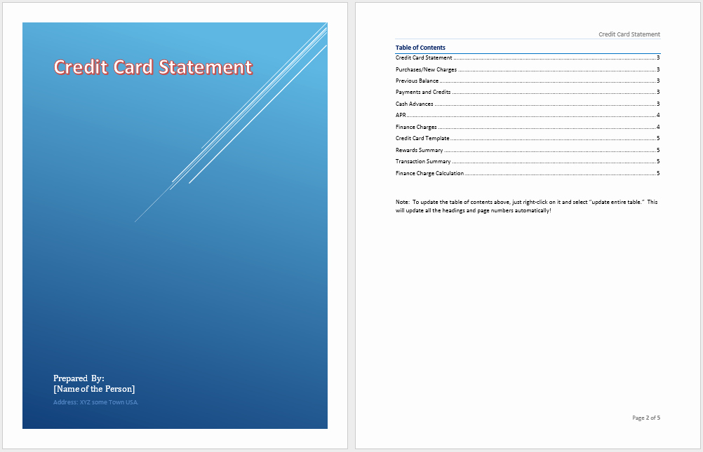 Statement Templates for Microsoft Word Elegant Credit Card Statement Template Microsoft Word Templates