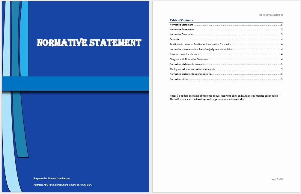 Statement Templates for Microsoft Word Elegant normative Statement Template Microsoft Word Templates
