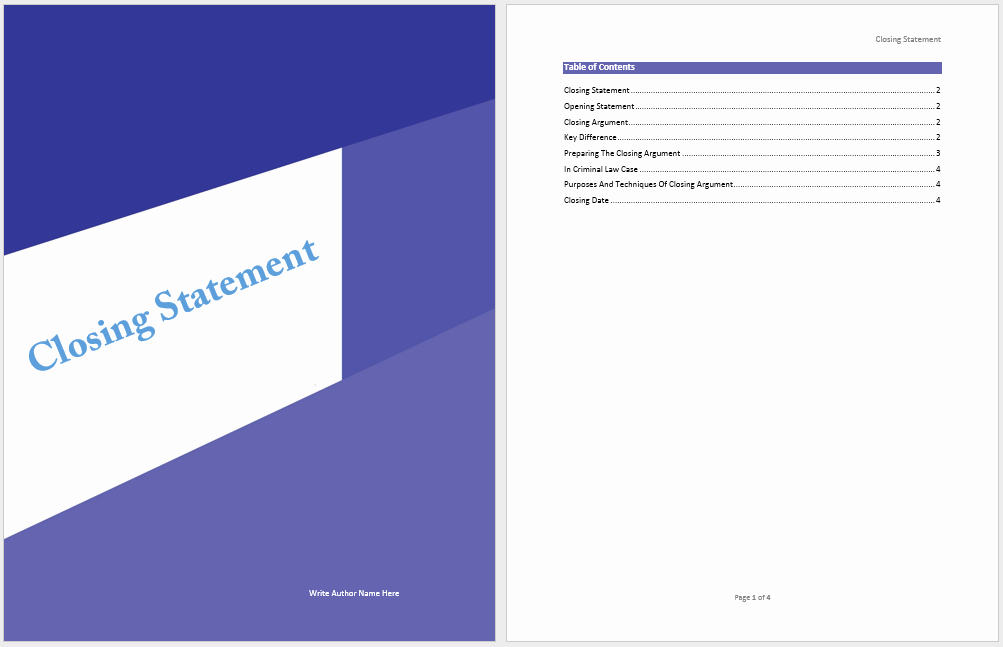 Statement Templates for Microsoft Word Lovely Closing Statement Template Microsoft Word Templates