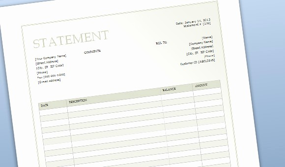 Statement Templates for Microsoft Word Luxury Billing Sheet Template for Word