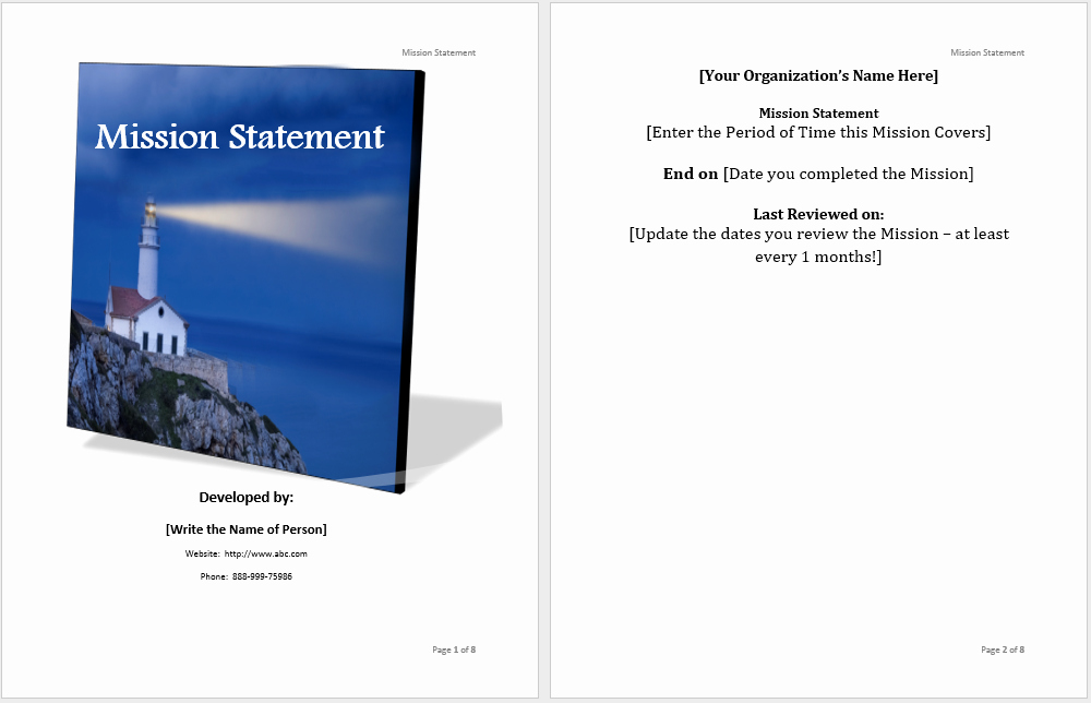 Statement Templates for Microsoft Word Luxury Mission Statement Template Microsoft Word Templates