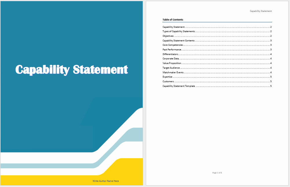 Statement Templates for Microsoft Word New Capability Statement Template Microsoft Word Templates