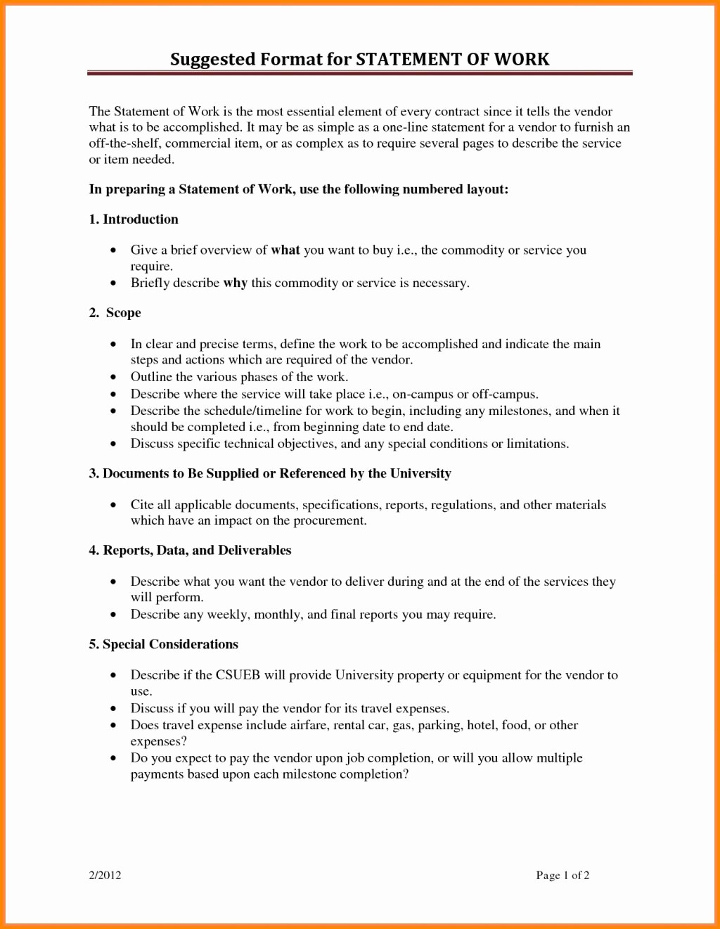 Statement Templates for Microsoft Word New Statement Work Template Word Microsoft Fice