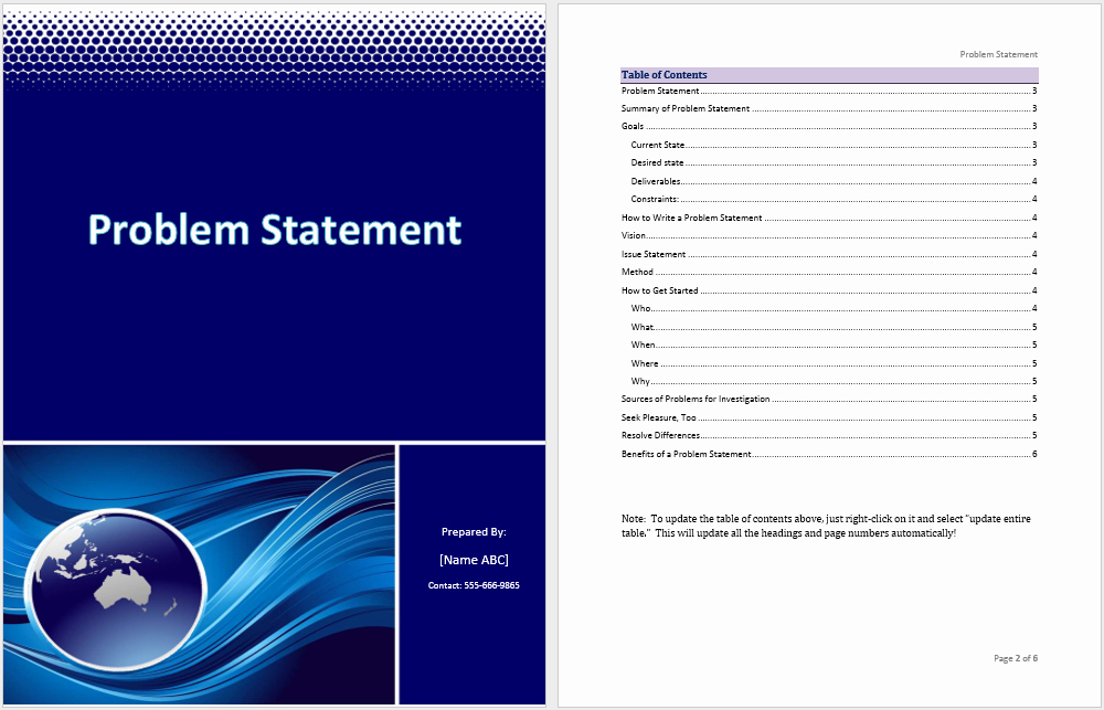 Statement Templates for Microsoft Word Unique Problem Statement Template – Microsoft Word Templates