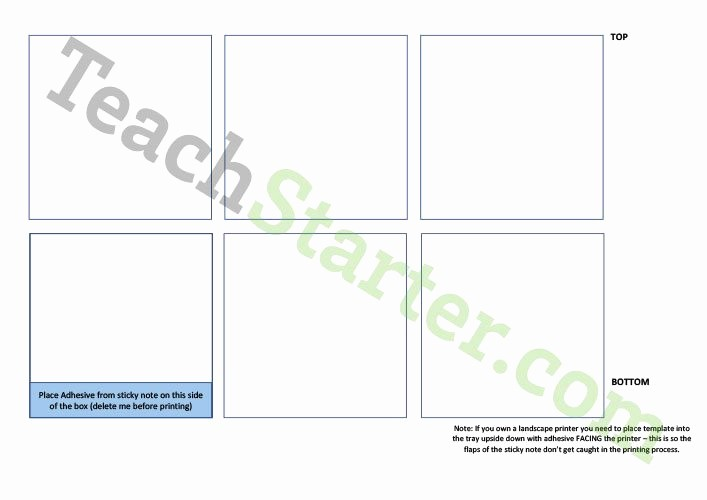 Sticky Note Template for Word Awesome 70 Free Science Teaching Resources for Primary and Elementary