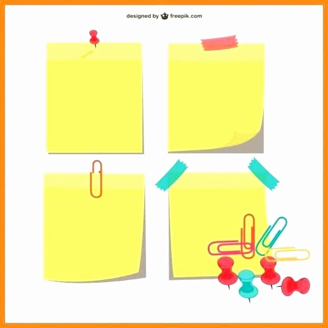 Sticky Note Template for Word Awesome Post It Print Template – Btcromaniafo