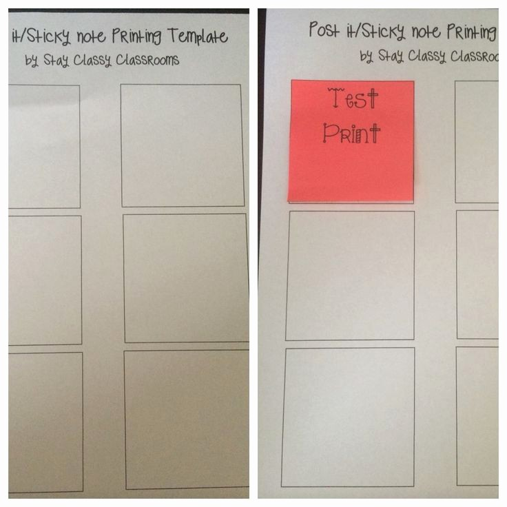 Sticky Note Template for Word Fresh 33 Best Images About Classroom Essentials On Pinterest