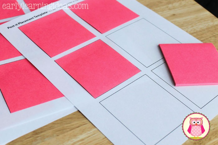Sticky Note Template for Word New Post It Note Tar S for Sight Word Practice Early