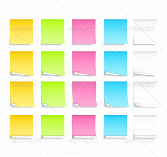 Sticky Note Template for Word Unique 10 Sample Sticky Notes