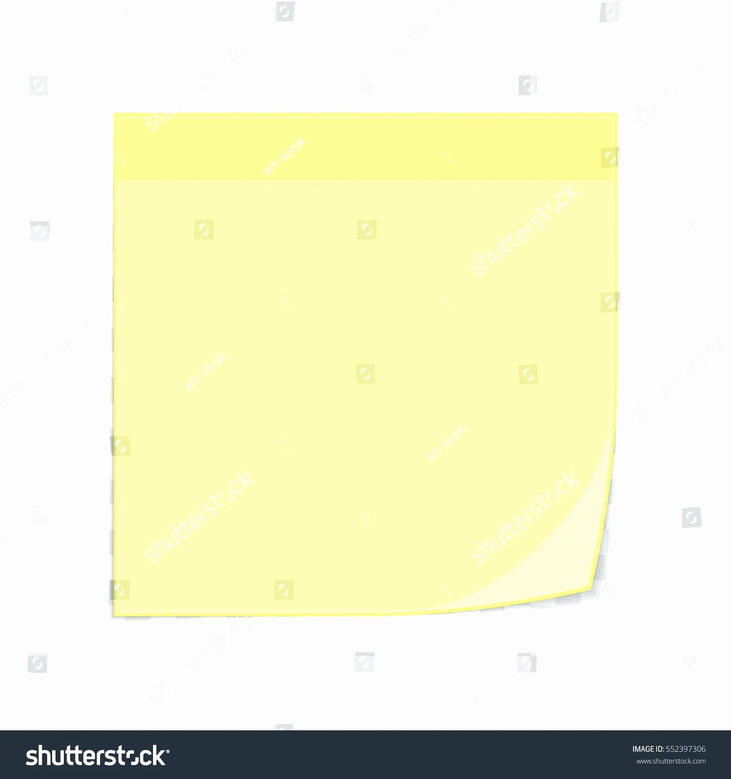 Sticky Note Template for Word Unique Template Sticky Note Template