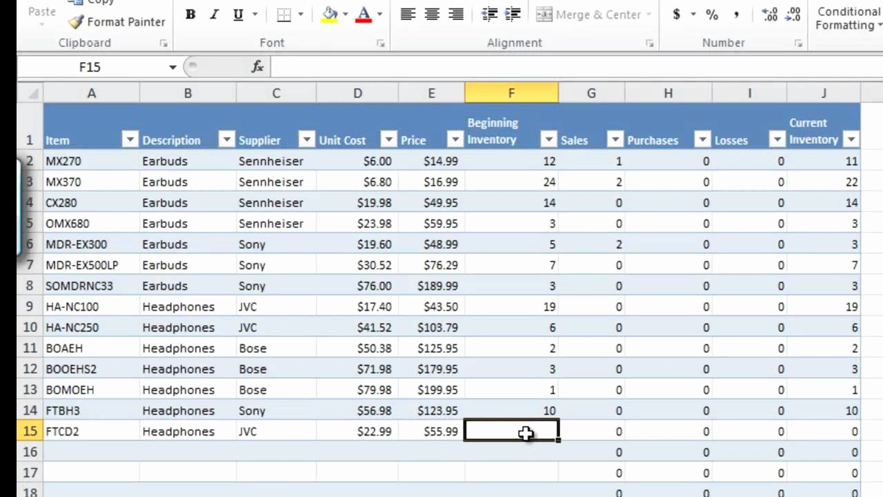 Stock Management In Excel Sheet Fresh How to Manage Inventory with Excel Inventory Tracking